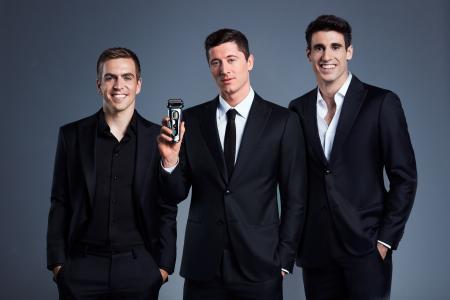 Braun X FC Bayern München_Phillip Lahm, Robert Lewandowski, Javier Martínez