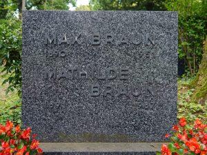 Grabstein von Max und Mathilde Braun